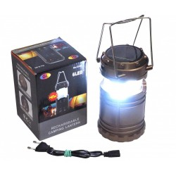 LÁMPARA 8 LED - CAMPING RECARGABLE SOLAR