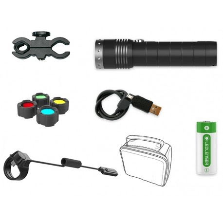 LINTERNA LED LENSER MT14 KIT CAZA