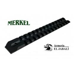 BASE CARRIL WEAVER DE ALUMINIO PARA MERKEL SR1 STANDARD