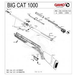 DESPIECE CARABINA GAMO BIG CAT 1000