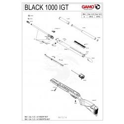 DESPIECE CARABINA GAMO BLACK 1000 IGT