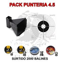 PACK PUNTERÍA 4,5 CAZABALINES + 100 DIANAS + 2000 BALINES