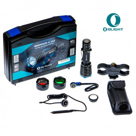 LINTERNA OLIGHT WARRIOR X 2000 LUMENES KIT CAZA RECARGABLE